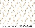 gold key pattern on white... | Shutterstock .eps vector #1103565644