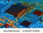 electronic circuit board close... | Shutterstock . vector #1103572304