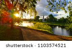 dramatic colorful sunset in the ...   Shutterstock . vector #1103574521