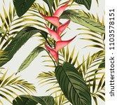 vector seamless tropical... | Shutterstock .eps vector #1103578151