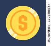 dollar icon. modern flat style...   Shutterstock .eps vector #1103588867