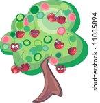 cherry tree   Shutterstock .eps vector #11035894