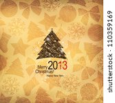 christmas and new year. vector... | Shutterstock .eps vector #110359169