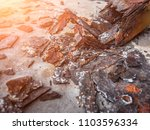 rust and corrosion in the metal ... | Shutterstock . vector #1103596334