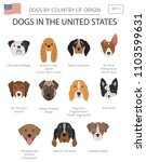 dogs in the united states.... | Shutterstock .eps vector #1103599631
