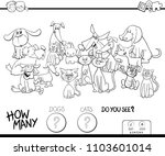 black and white cartoon... | Shutterstock .eps vector #1103601014