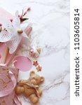 baby girl background  ... | Shutterstock . vector #1103605814