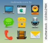 funny multimedia icons   Shutterstock .eps vector #1103612984
