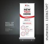 roll up banner design template  ... | Shutterstock .eps vector #1103617697