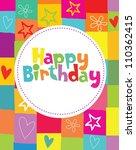 happy birthday card design.... | Shutterstock .eps vector #110362415