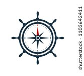 ship wheel and compass rose on... | Shutterstock .eps vector #1103642411