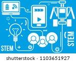 robotics or stem education... | Shutterstock .eps vector #1103651927