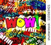 art urban graffiti raster... | Shutterstock . vector #110365421