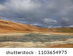 landscape of volcanic boiling... | Shutterstock . vector #1103654975