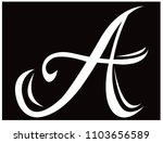 letter a isolated | Shutterstock .eps vector #1103656589