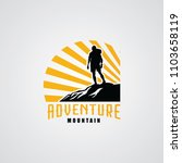 hiking club expedition logo... | Shutterstock .eps vector #1103658119