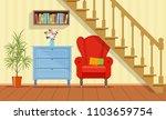 retro interior living room with ...   Shutterstock .eps vector #1103659754