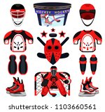 hockey set. modern flat... | Shutterstock .eps vector #1103660561