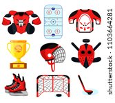 hockey set. modern flat... | Shutterstock .eps vector #1103664281