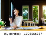 young attractive asian business ...   Shutterstock . vector #1103666387