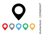 set of colorful pin map... | Shutterstock .eps vector #1103682647