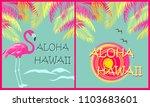 aloha  background  beach ... | Shutterstock . vector #1103683601