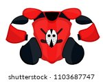 hockey shoulder pad to... | Shutterstock .eps vector #1103687747