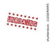 red grunge rubber stamp with... | Shutterstock .eps vector #1103690495