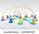 business network | Shutterstock .eps vector #110369267