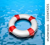 lifebuoy in the sea 3d... | Shutterstock . vector #1103693201