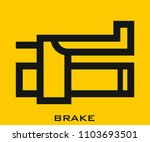 brake icon signs | Shutterstock .eps vector #1103693501