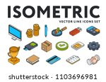 isometric color flat line icon... | Shutterstock .eps vector #1103696981