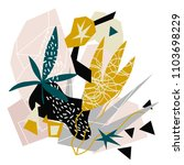 abstract floral elements paper... | Shutterstock .eps vector #1103698229