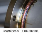 steel weld joined pipe to plate ... | Shutterstock . vector #1103700701