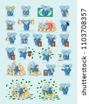 set kit collection vector stock ... | Shutterstock .eps vector #1103708357
