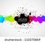 vector abstract background | Shutterstock .eps vector #110370869
