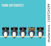 think differently   being... | Shutterstock .eps vector #1103724299