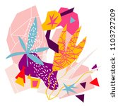 abstract floral elements paper... | Shutterstock .eps vector #1103727209