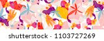 abstract floral elements paper... | Shutterstock .eps vector #1103727269