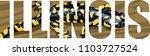 vector illinois  american state ... | Shutterstock .eps vector #1103727524
