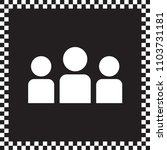 vector icon crowd of people  | Shutterstock .eps vector #1103731181