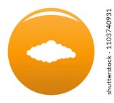 fluffy cloud icon. simple... | Shutterstock .eps vector #1103740931