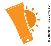uv sun cream logo. flat... | Shutterstock .eps vector #1103741639