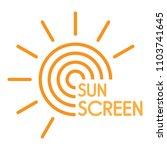 sun uv screen logo. flat... | Shutterstock .eps vector #1103741645