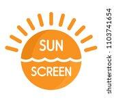 sun sea screen uv logo. flat...   Shutterstock .eps vector #1103741654