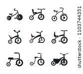 tricycle bicycle bike wheel... | Shutterstock .eps vector #1103744351