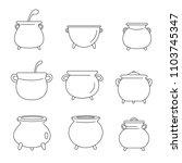 cauldron pot kettle halloween... | Shutterstock .eps vector #1103745347