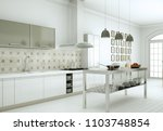 3d illustration of white modern ... | Shutterstock . vector #1103748854