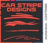 tribal and cool car stripe... | Shutterstock .eps vector #1103750684