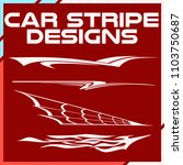 tribal and cool car stripe... | Shutterstock .eps vector #1103750687